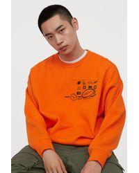 H&M Printed Sweatshirt - Orange