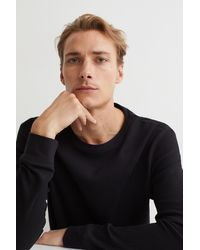 H&M Jersey Top Slim Fit - Black