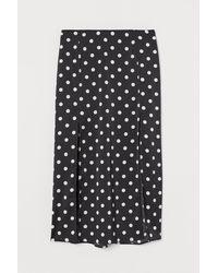 H&M Slit-hem Skirt - Black