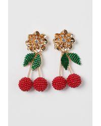 H&M Cherry-shaped Earrings - Metallic