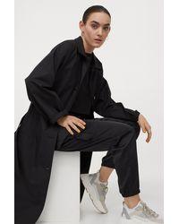 H&M Satin Cargo Pants - Black