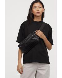 H&M Short-sleeved Sweatshirt - Black