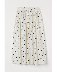 H&M Circular Skirt - White