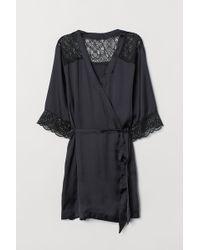H&M - Kimono en satin - Lyst