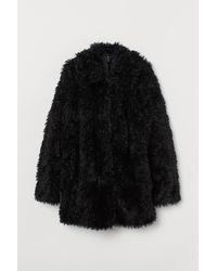 H&M Faux Fur Jacket - Black