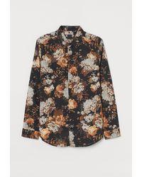 H&M Patterned Shirt - Black