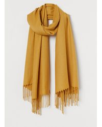 H&M Woven Scarf - Yellow