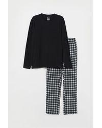H&M Pyjama - Schwarz