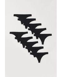 H&M Lot de 10 culottes Thong - Noir