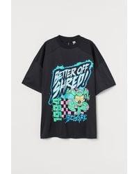 H&M Oversized T-Shirt - Schwarz