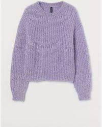 H&M Glittery Sweater - Purple