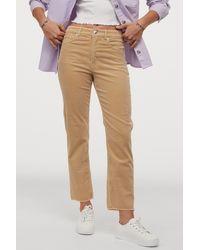 H&M Corduroy Pants - Natural