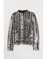H&M - Sequined Top - Lyst