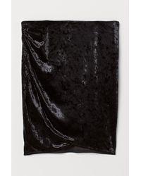 H&M Crushed Velvet Skirt - Black