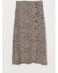 H&M Calf-length Skirt - Brown