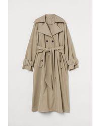 H&M Oversized Trenchcoat - Natur