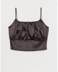 H&M + Top drapé - Noir