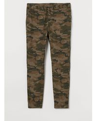 H&M - Cotton Twill joggers - Lyst