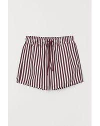 H&M Printed Swim Shorts - Red