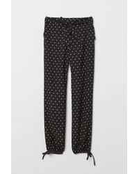 H&M Patterned Trousers - Black