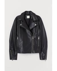 H&M Veste de style motard - Noir