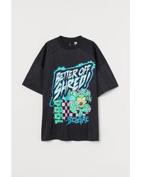 H&M - Oversized T-Shirt - Lyst