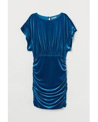 H&M Velour Dress - Blue