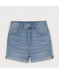 H&M - Jeansshorts Mom Fit - Lyst