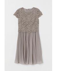 H&M Pleated Dress - Gray