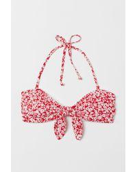 H&M Haut de maillot bandeau - Rouge