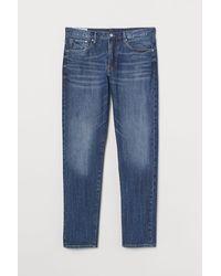 H&M Slim Straight Jeans - Blau