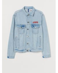 H&M Printed Denim Jacket - Blue