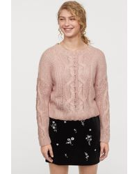 H&M - Cable-knit Sweater - Lyst