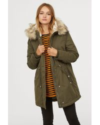 H&M - Padded Parka With Hood - Lyst
