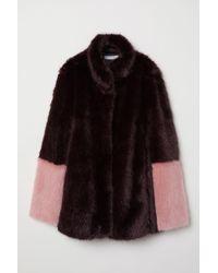 H&M Faux Fur Jacket - Red