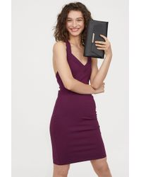 H&M - Fitted Dress - Lyst
