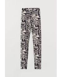 H&M Patterned leggings - Natural