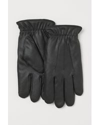 H&M Faux Shearling-lined Gloves - Black