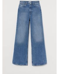 H&M Wide Ultra High Waist Jeans - Blue