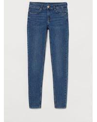 H&M Skinny Low Jeans - Blau