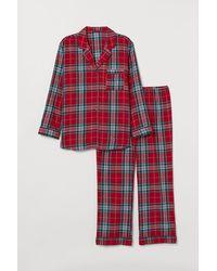 H&M H & M+ Flannel Pyjamas - Red