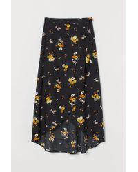 H&M - Wrapover Viscose Skirt - Lyst