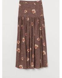 H&M Lyocell-blend Skirt - Brown