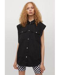 H&M Denim Waistcoat - Black