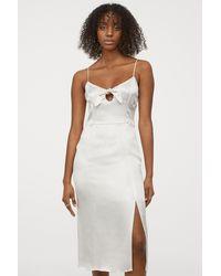 H&M Satin Slip Dress - White