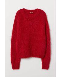 H&M Strickpullover aus Wollmix - Rot