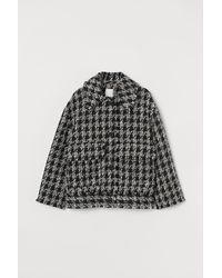 H&M Veste en tissu texturé - Noir