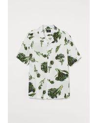 H&M Patterned Resort Shirt - White