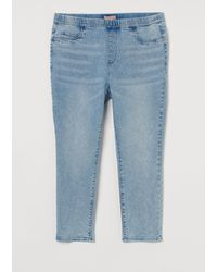 H&M + Skinny Cropped Jeggings - Blau