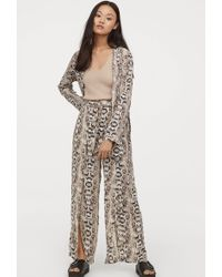 H&M - Pants With High Slits - Lyst